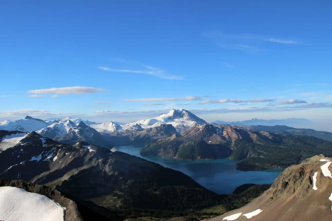 Garibaldi Lake seen from Black Tusk